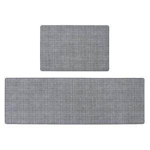 JVL Elegance Indoor Mat, Grey