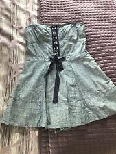 NWT Juicy Couture Denim Side  Zip Romper Skort Sz L (12)