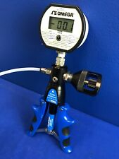 OMEGA HPP-600 CALIBRATION PUMP WITH DPG1001B-100G DIGITAL PRESSURE GAUGE 100PSIG