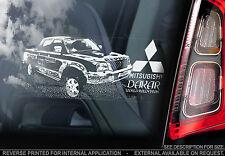 MITSUBISHI L200-Finestra Auto Adesivo-DAKAR sign-GUERRIERO PICK-UP