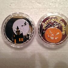 Lot Of 40 Haunted House Halloween Pumpkin Witch Jack O Lantern 1Oz/ounce coin