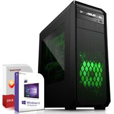 Gamer Komplett PC System AMD A8-7650K 16GB 120GB SSD 320GB HDD Win 10 Rechner