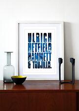 METALLICA  ❤ Typography poster art Print - 5 sizes #29