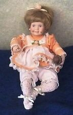 "Danbury Mint Doll ""Amy"" by Elke Hutchens enjoying chocolate ice cream 9"""