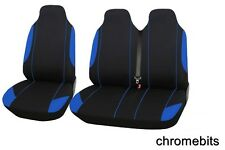 MERCEDES BENZ SPRINTER VAN SEAT COVERS BLACK BLUE (FABRIC) 2+1 SINGLE & DOUBLE