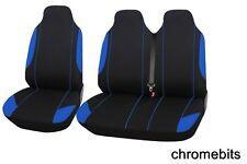 2+1 blau weich & Komfort Stoff Sitzbezüge für Opel Vivaro sportlich 01-14