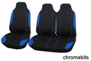 Mitsubishi FUSO CANTER VAN Seat Covers Black Blue (Fabric) 2+1 Single & Double