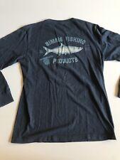 Simms Fishing Products Mens Medium Longsleeve T Shirt Navy Blue