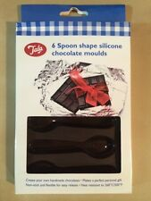 Tala Quality 6 Spoon Shape Silicone Chocolate Mould and Boxed