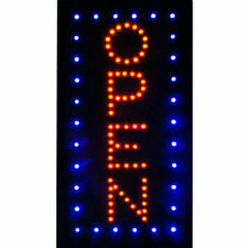 "Animated Motion Lighted Led Neon Business Sign Open Cafe Bar Store Shop 19""x10"""