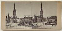 Stockholm Och Deß Omgifningar Riddarholmskyrkan Schweden Foto Vintage Stereo