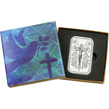 Jesus/Cross 1 oz .999 Fine Silver Bar by SilverTowne (Religious Box)