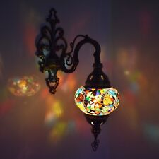 Handmade Electric Turkish Moroccan Glass Mosaic Single Wall Light Lamp Sconce