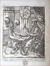 Hans Holbein / Deuchar: The Dance of Death - London 1803 Danza Morte Scheletri