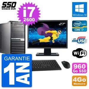 """PC Tour Acer M2610G Ecran 27"""" Intel i7-2600 RAM 4Go SSD 960Go Windows 10 Wifi"""