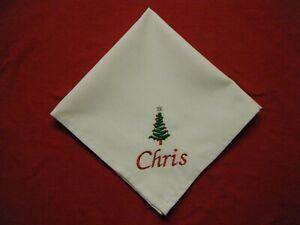 PERSONALISED CHRISTMAS TREE NAPKINS -  MATERIAL
