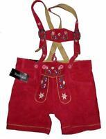 SUPER: kurze Damen- Trachten- LEDERHOSE / Trachtenhose / Hose in rot Gr. 42