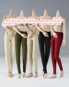 1:6 Scale Pencil Pants Stretch Trousers Clothes Fit 12'' Female Action Figure