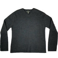 Banana Republic Merino Wool Sweater Men's Large Long Sleeve VNeck Grey