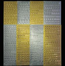 Sticker Buchstaben in gold und silber zur Auswahl Alphabet