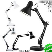 FLEXO BASE ARQUITECTO E27 LAMPARA DE MESA 40W DESK LAMP ESCRITORIO DESPACHO