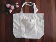 Create Your Style Three Pocket 100% Thick Canvas Cotton Beige Tote Bag