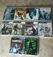Playstation 3 Games Lot: Blacksite Area 51 inFamous 2 Crysis 2 Assassin's Creed