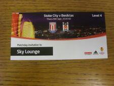 29/09/2011 BIGLIETTO: STOKE CITY V BESIKTAS [ UEFA Europa League ] SKY Lounge (comple