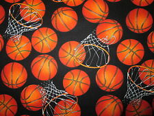 Basketball Sports Basket Ball Hoop Cotton Fabric BTHY