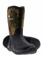Arctic Shield Kids Rubber Neoprene Waterproof  Insulated Boots NEW (Camo, Black)