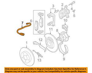 GM OEM Rear Brake-Hydraulic Flex Hose 22708930