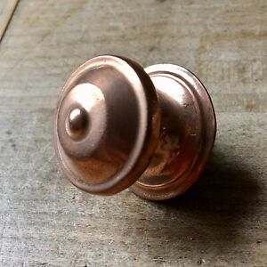 X1 Antique Small Cupboard Door Knob Handle Copper Hardware Vintage Original Old