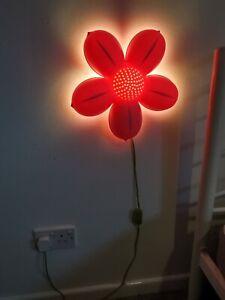 Ikea SMILA BLOMMA Pink Flower Night Light/ Wall Lamp For Kids excellent