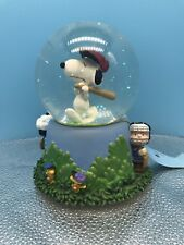 "New Snoopy ""Up To Bat"" Figurine Sn Globe Tune: Take Me Out To The Ball Game West"