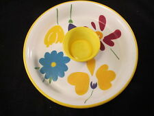 """Colorful Pfaltzgraff """"Flourish"""" Large Two-Piece Chip and Dip Set"""