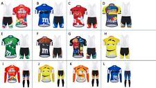 Regular, Big & Tall M&M Men's Short/Long Sleeve Cycling Jersey or/and Bibs Set
