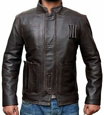 Star Wars Harrison Ford Brown Jacket Force Awakens Han Solo Leather Jacket