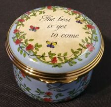 """Halcyon Days Enamel """"The best is yet to come"""""""