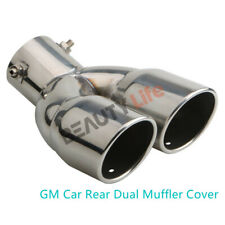 1PCS Exhaust Pipe Tip Stainless Steel GM Car Rear Dual Muffler Cover Tail Throat