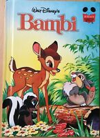 Walt Disney Bambi Hardback Book Grolier 2000 Wonderful World of Reading USA
