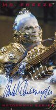 Skybox Batman & Robin Autograph Card Arnold Schwarzenegger As Mr. Freeze