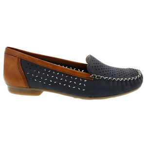 Rieker Womens Shoes Whitney 40086 Casual Slip-On Moccasin Loafers Leather