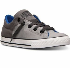 Converse Big Boys' Chuck Taylor High Street Ox Size 2 Grey