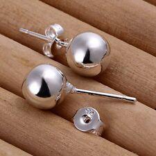Mujer Señora Pendientes De Botón 925 Plata Aretes Perno Stud Earrings