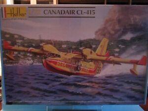 HELLER MAQUETTE à MONTER AVION BOMBARDIER CANADAIR CL-415 SECURITE CIVILE  1/72°