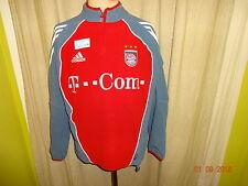 """FC Bayern München Adidas Spieler Fleece Zipper/Jacke 2005/06 """"-T---Com-"""" Gr.S- M"""