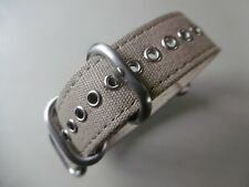 Uhrenarmband 20 mm khaki Strap Canvas Nato ZULU Rundring Edelstahl matt Uhrband