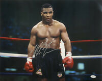 Mike Tyson Signed 16x20 Boxing Stare Down Photo JSA ITP