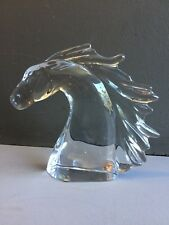 Clear Crystal Daum France Horse Head Figurin Excellent    🐎 $$$%25 OFF$$$