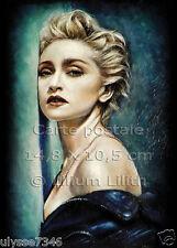 2 Cartes Postales, Madonna , peinture à l'huile